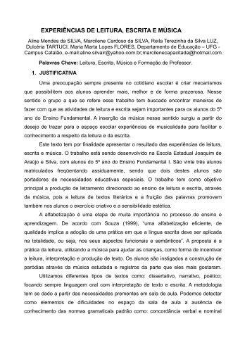 EXPERIÊNCIAS DE LEITURA, ESCRITA E MÚSICA