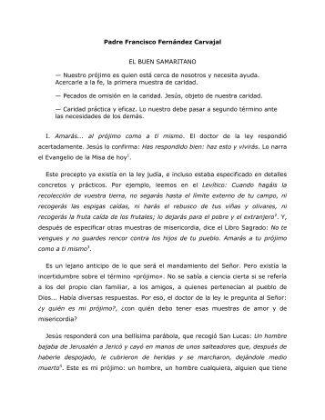 Padre Francisco Fernández Carvajal EL BUEN ... - Homiletica.org