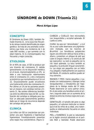 SÍNDROME de DOWN - Asociación Española de Pediatría