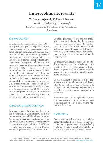 Enterocolitis necrosante - Asociación Española de Pediatría