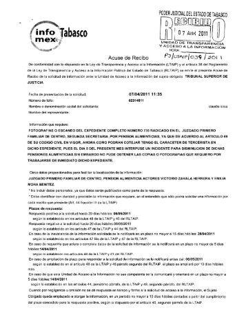 PODER JUDICIAL DEL ESTADO oe TABASCO - Tribunal Superior ...