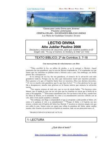 Lectio Divina sobre San Pablo Ap... - Lectionautas