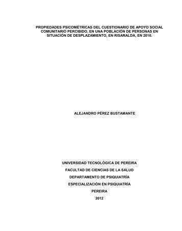 propiedades psicométricas del cuestionario de apoyo social ...