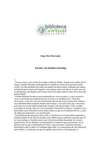Tarzán y los hombres hormiga - Biblioteca Virtual Universal