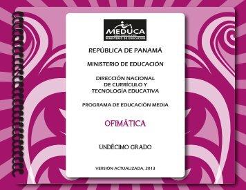 ofimatica 11°-2013 - Ministerio de Educación
