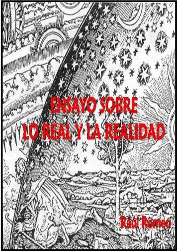 Ensayo sobre lo real y la realidad. De Raúl Romeo. - Liberación ...