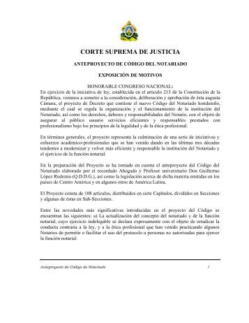 Código del Notariado - Cámara de Comercio e Industria de ...