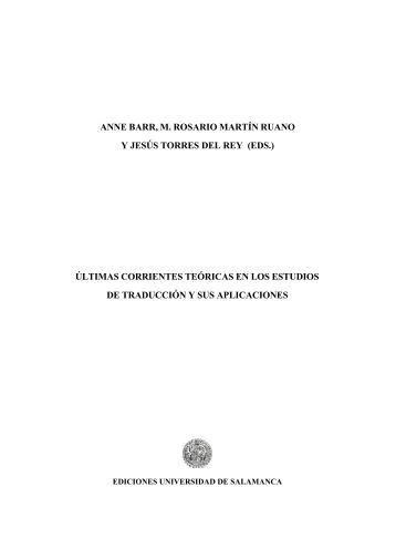 últimas corrientes teóricas en los estudios de traducción - Gredos ...