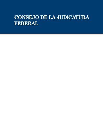 CONSEJO DE LA JUDICATURA FEDERAL - Suprema Corte de ...