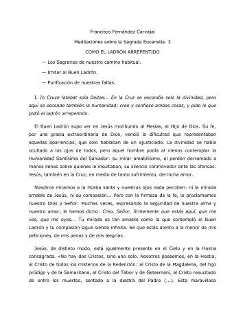 Francisco Fernández Carvajal Meditaciones sobre ... - Homiletica.org