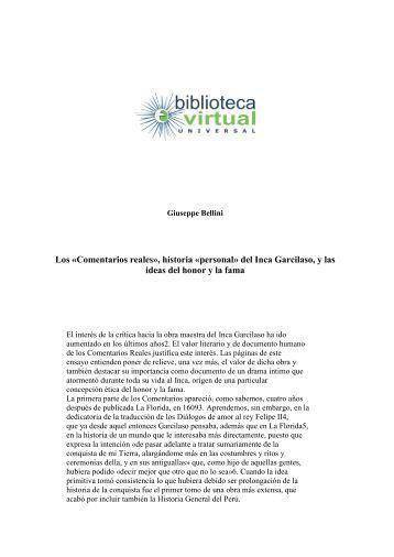 historia «personal - Biblioteca Virtual Universal
