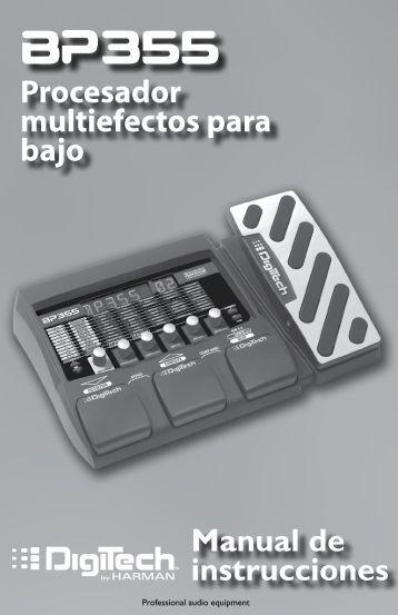 Procesador multiefectos para bajo Manual de instrucciones - Digitech