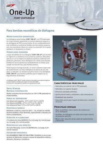 Para bombas neumáticas de diafragma - WL Gore & Associates, Inc.