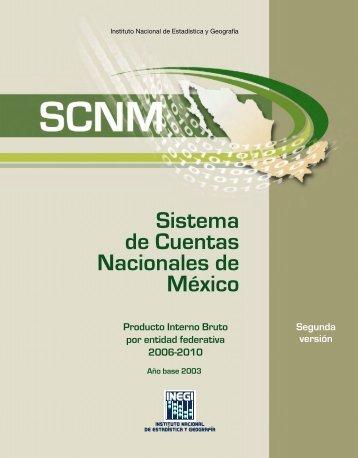 Producto Interno Bruto por entidad federativa 2006-2010 - Inegi
