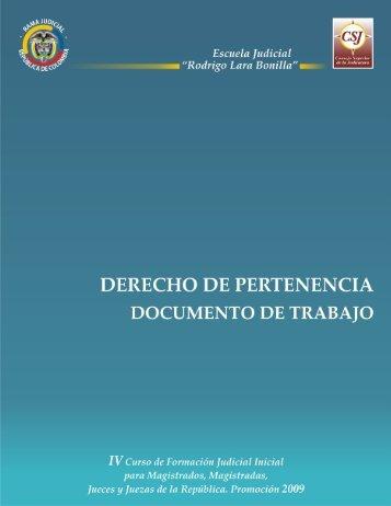 Derecho de Pertenencia - Campus Virtual Escuela Judicial Rodrigo ...