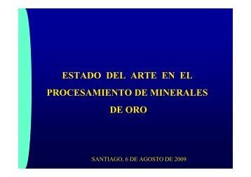 Estado del arte en procesamiento de minerales de oro