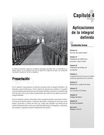 Capítulo 4: Aplicaciones de la integral definida