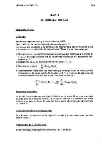 Tema 4. Integrales triples