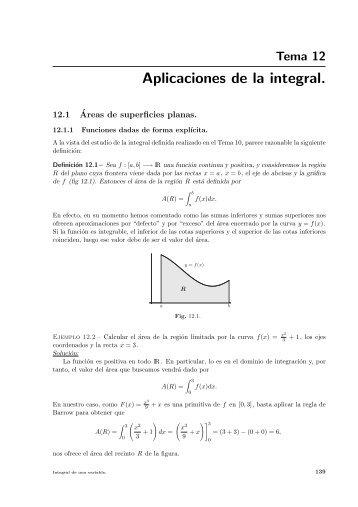 Aplicaciones de la integral.