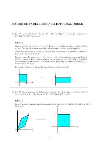 CAMBIO DE VARIABLES EN LA INTEGRAL DOBLE.