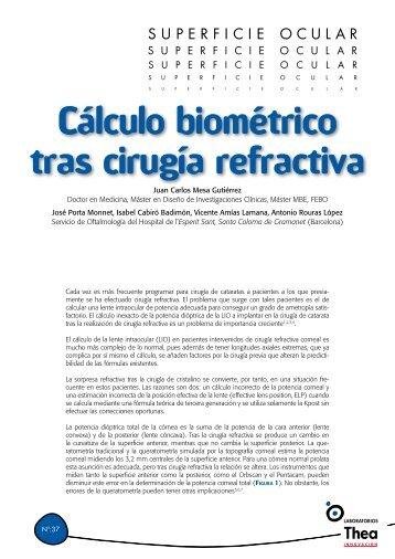 Cálculo biométrico tras cirugía refractiva - Laboratorios Thea