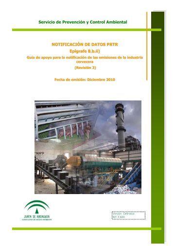 Emisiones de la industria cervecera - Junta de Andalucía