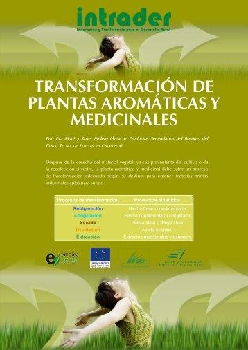 transformación de plantas aromáticas y medicinales - CTFC