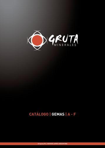 CATÁLOGO | GEMAS | A - F - Gruta Minerales