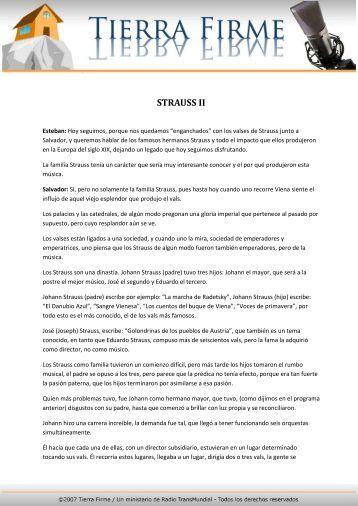STRAUSS II - Tierra Firme