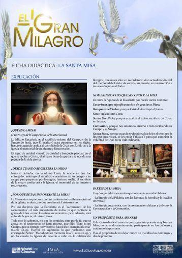 EGM Guia Santa Misa - El Gran Milagro