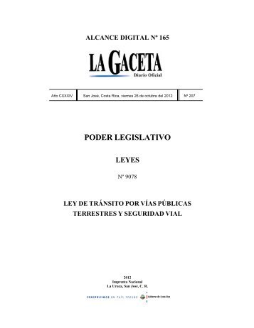 Ley de Transito - Consejo de Seguridad Vial