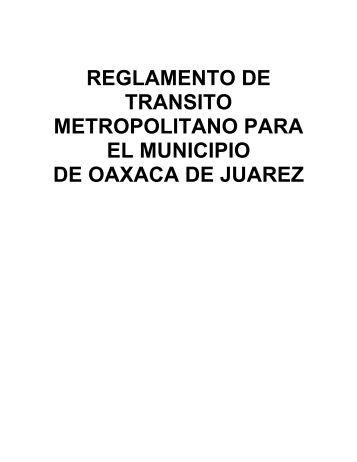 REGLAMENTO DE TRANSITO - Justia