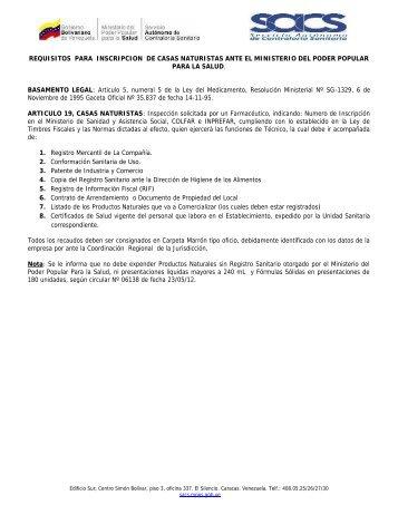 Casas Naturistas - SACS - Ministerio del Poder Popular para la Salud