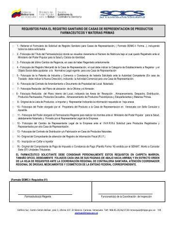 Casas de Presentación de Productos - SACS - Ministerio del Poder ...