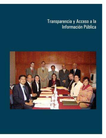 Transparencia y Acceso a la Información Pública - Consejo de la ...