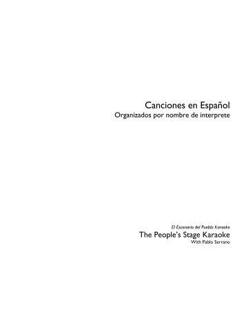 Final Spanish List June 2011