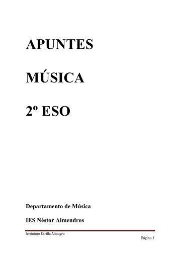 APUNTES MÚSICA 2º ESO - IES Néstor Almendros
