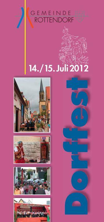 Herzlich willkommen zum 7. Dorffest in Rottendorf