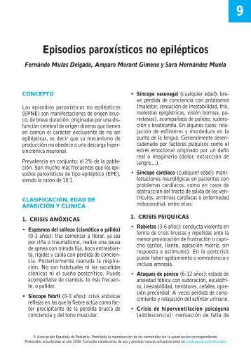 9. Episodios paroxísticos no epilépticos - Asociación Española de ...