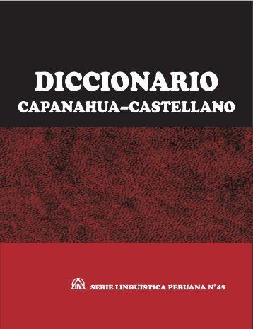 Diccionario Capanahua ~ Castellano