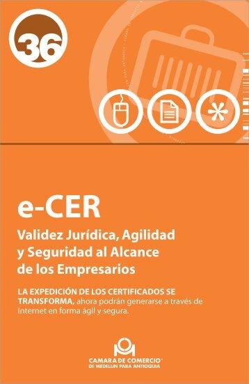 Certificado e-CER - Cámara de Comercio de Medellín