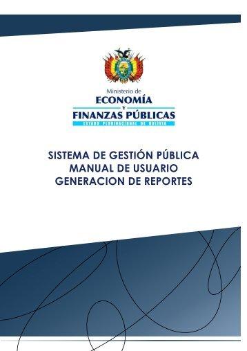 CONSULTAS Y REPORTES - GENERADOR DE REPORTES - Sigep