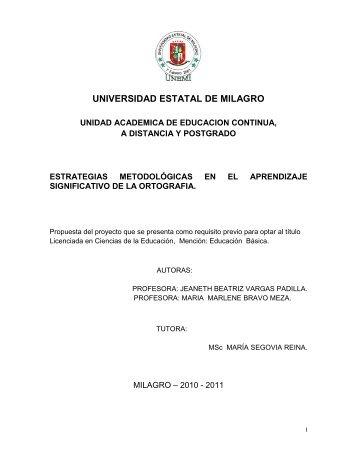 UNIVERSIDAD ESTATAL DE MILAGRO - Repositorio de la ...