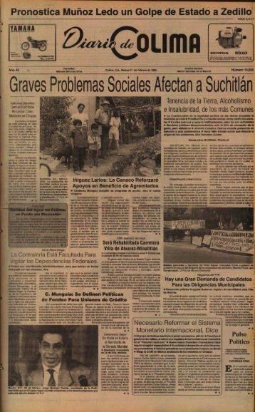 Graves Problemas Sociales Afectan a Suchitlán - Universidad de ...