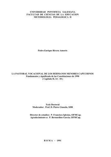 UNIVERSIDAD PONTIFICIA SALESIANA FACULTAD DE CIENCIAS ...