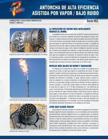 antorcha de alta eficiencia asistida por vapor / bajo ruido - Zeeco