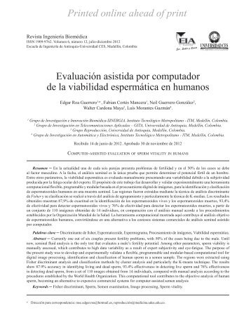 Evaluación asistida por computador de la viabilidad espermática en ...