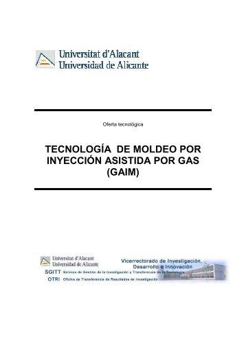 tecnología de moldeo por inyección asistida por gas - Servicio ...