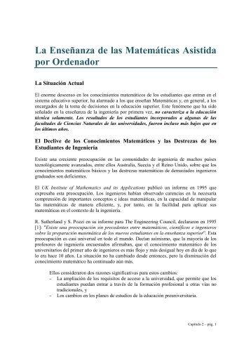 La Enseñanza de las Matemáticas Asistida por ... - Portal EVLM
