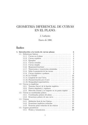 Geometría diferencial de curvas en el plano